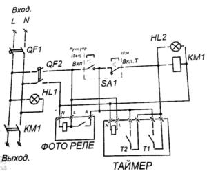Схема электрическая принципиальная ШУОТ